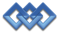 Victorian Project Management Group VICPMG.com.au blue diamonds symbol - converging construction teams together into a superior service experience.