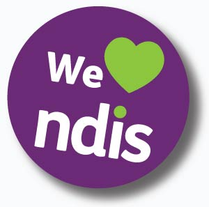 We love NDIS logo - the national disability insurance scheme provides assistance to improve the quality of your life.