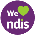 We love the NDIS at the Victorian Project Management Group. The purple NDIS green heart logo showing our support.