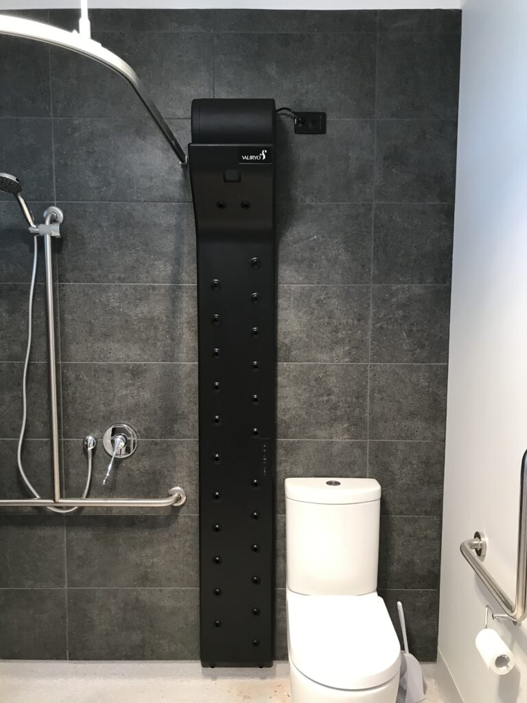 NDIS registered home modifications include bathroom renovations to empower those whose mobility is impaired- the Valiryo body dryer is an appliance installation to assist when mobility is challenged.